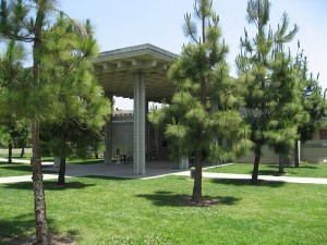 Entrance to the Los Angeles Municipal Art Gallery at Barnsdall Art Park