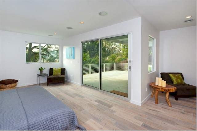 Large Master has direct access to deck with Silver Lake View