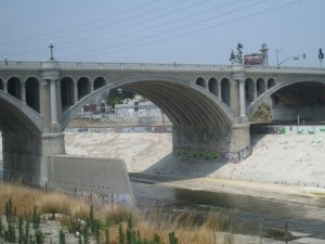 Los Angeles River has a bike bath through Elysian valley to Griffith Park in Los Feliz