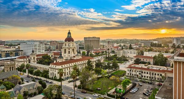 Pasadena California Sunrise and Sunset