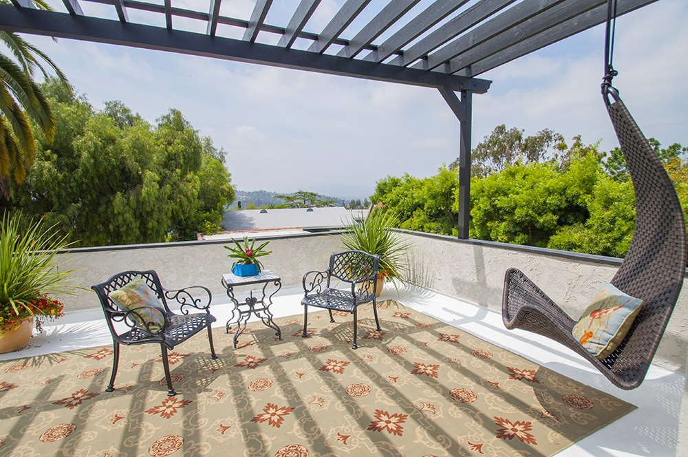 Montecito Heights Master Bedroom with deck