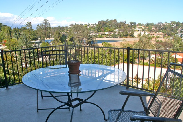 Silver Lake Home has  a great deck off the master bedroom view Silver Lake Reservoir views