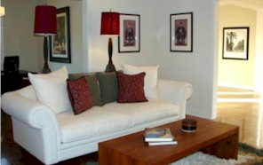 uncluttered living room shows great