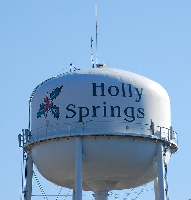 Holly Springs NC Water Tower by Donald Lee Pardue