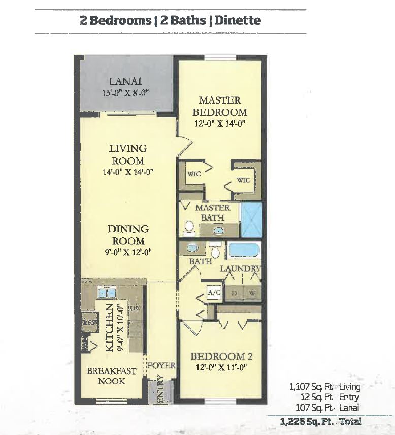 Antonia Floorplan: Condos for sale in Lakewood National