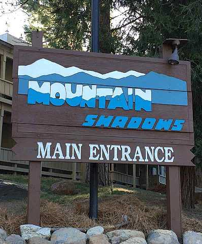 Mountain Shadows Sign