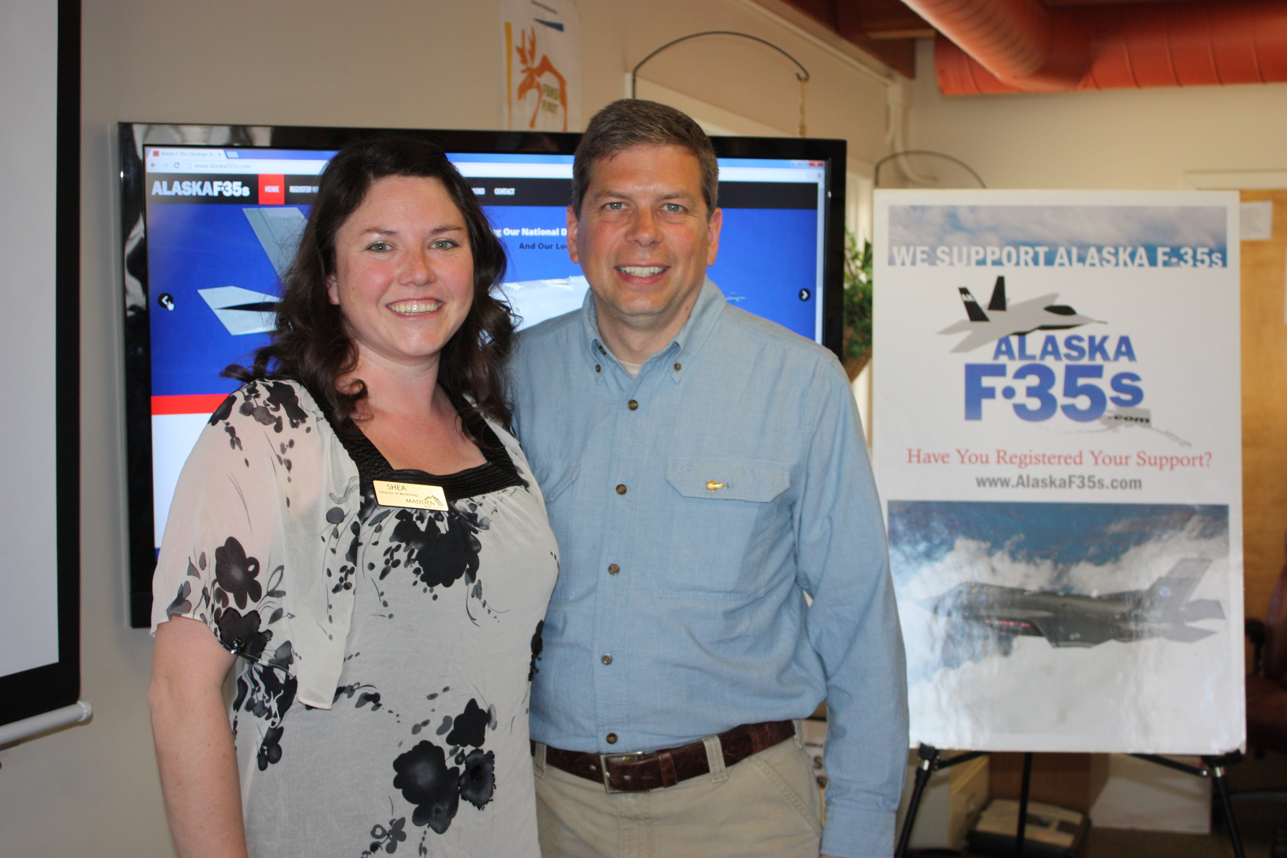 Shea Bedlie and Senator Begich