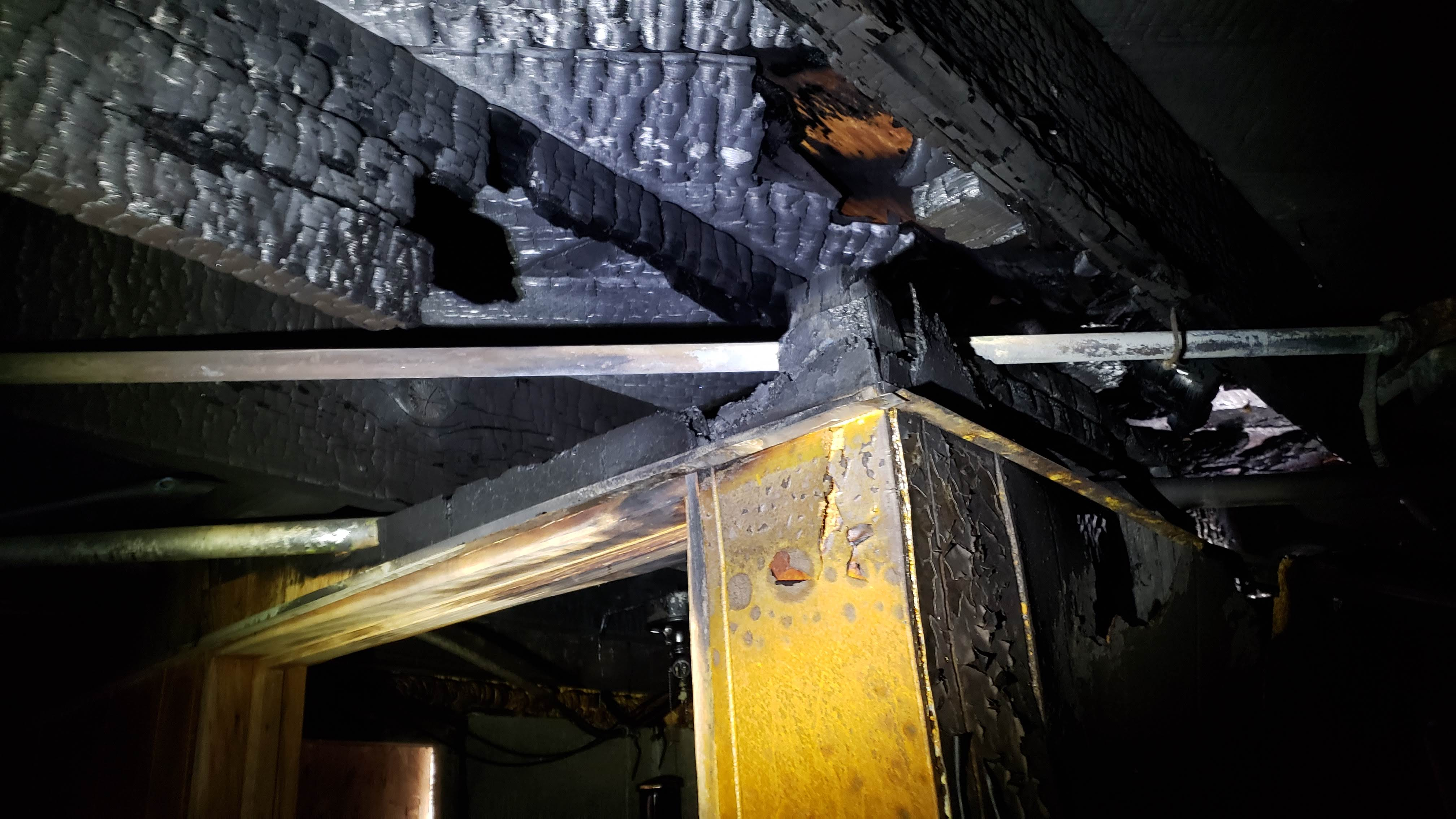 burned floor joists