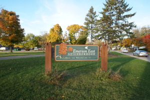 Emerson East neighborhood sign