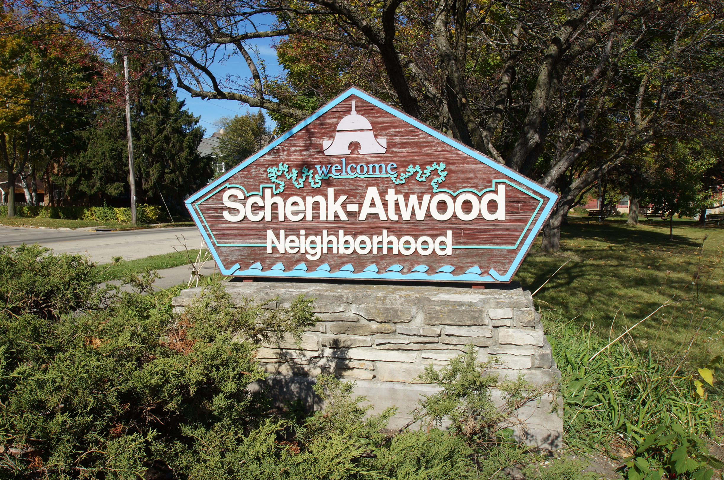 Schenk Atwood neighborhood sign