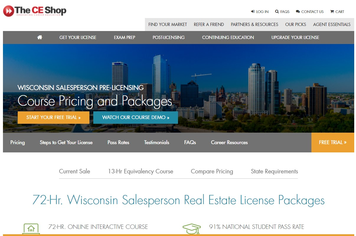 Obtain your real estate license today for Wisconsin