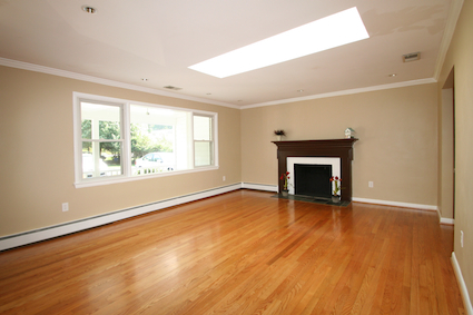 Light filled living room at 4 Shannon Court Silver Spring MD 20904
