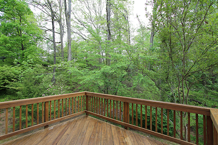 Gorgeous wooded views from this Kensington Townhouse at 10507 Mills Crossing Way