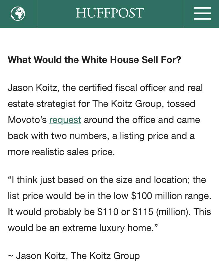 Jason Koitz in Huffington Post