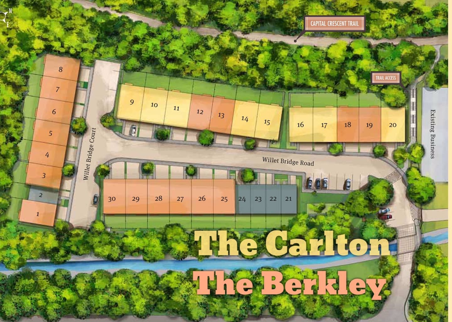 Little Falls Place Bethesda Townhomes - Siteplan