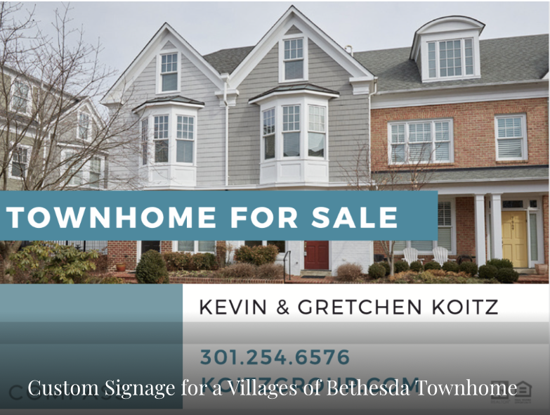 Villages of Bethesda Townhomes Custom Signage