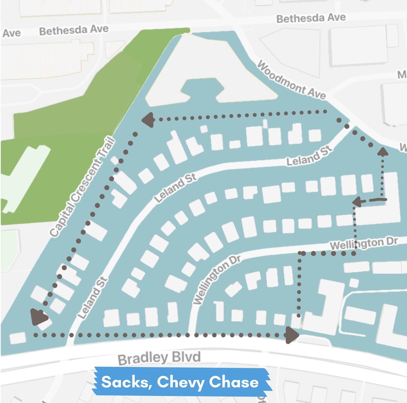 Sacks Neighborhood Map - Chevy Chase