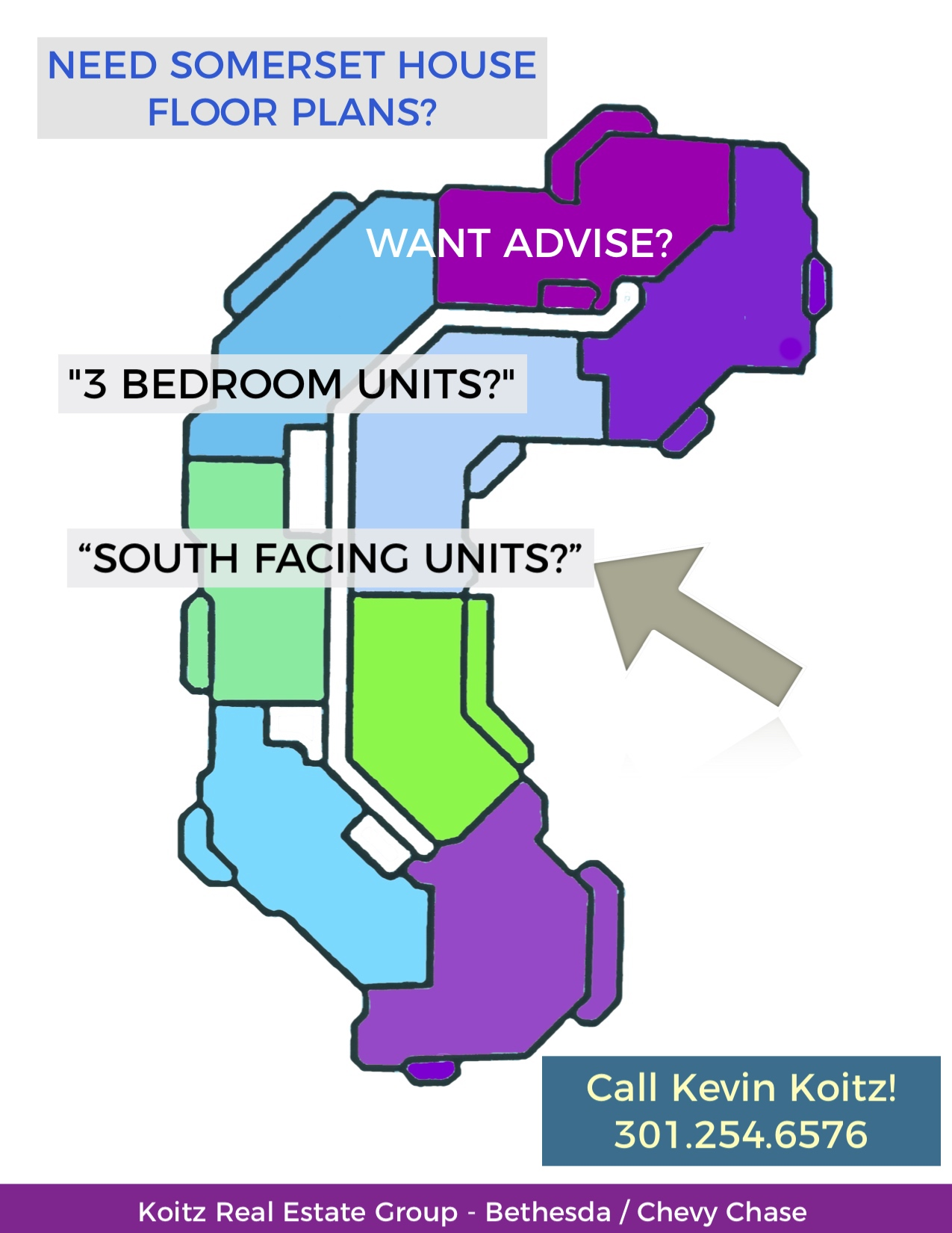 Somerset House Condominiums, Chevy Chase.  Floor plan & advice