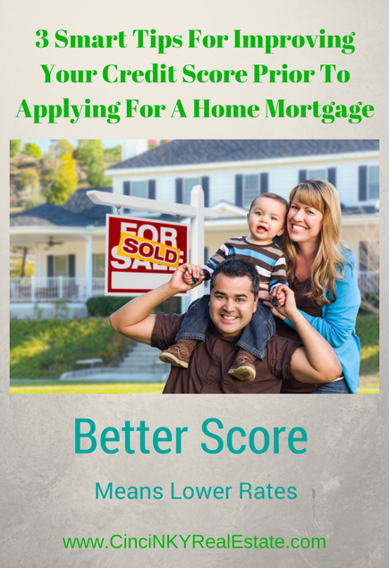 3 smart tips for improving your credit score prior to applying for a home mortgage