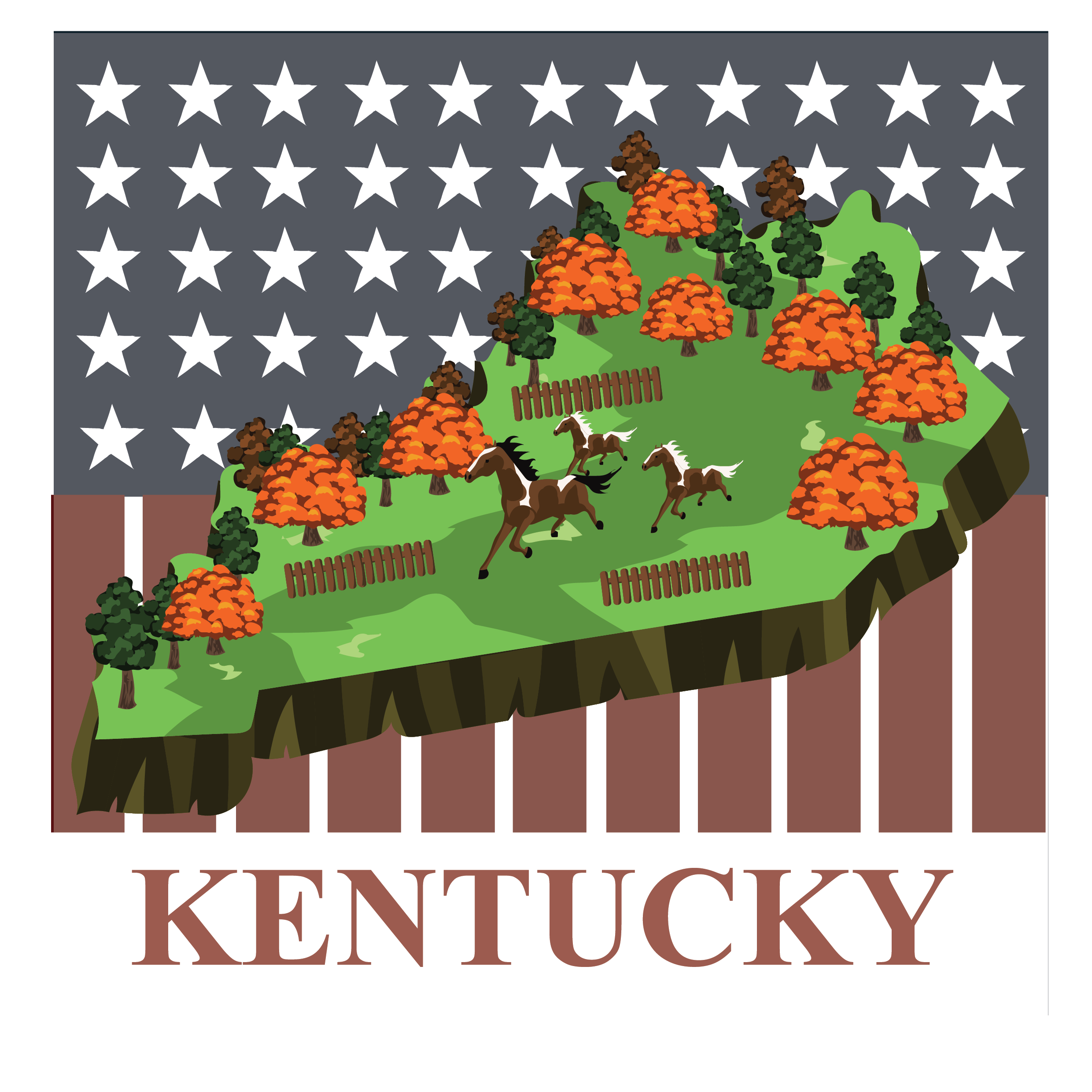 3d pictomap of kentucky