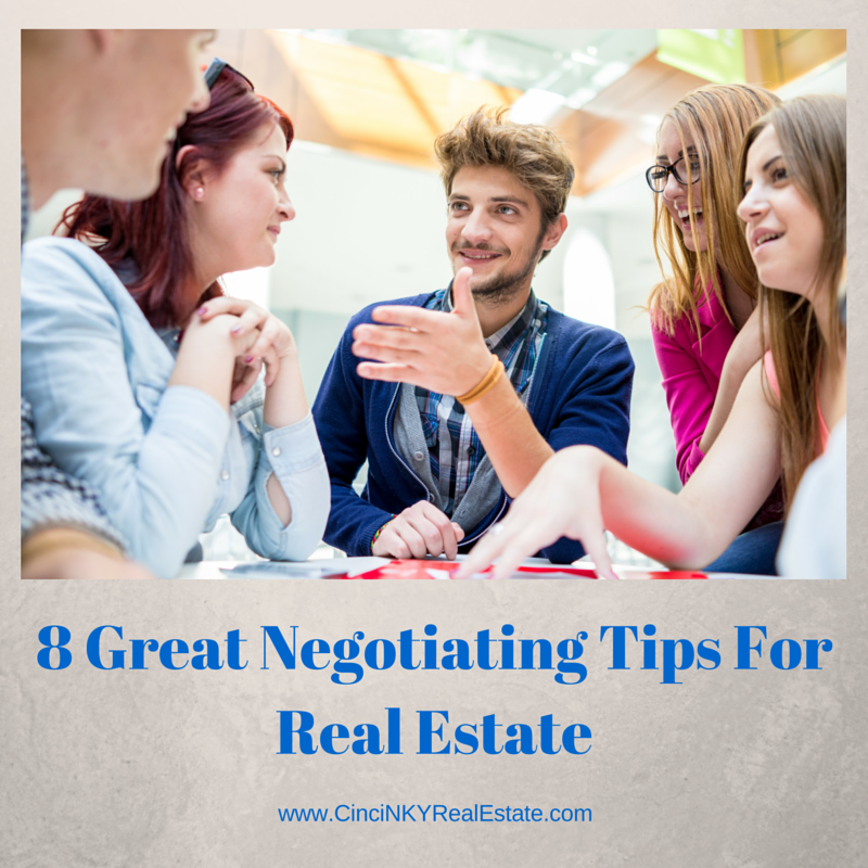 8 great negotiating tips for real estate graphic