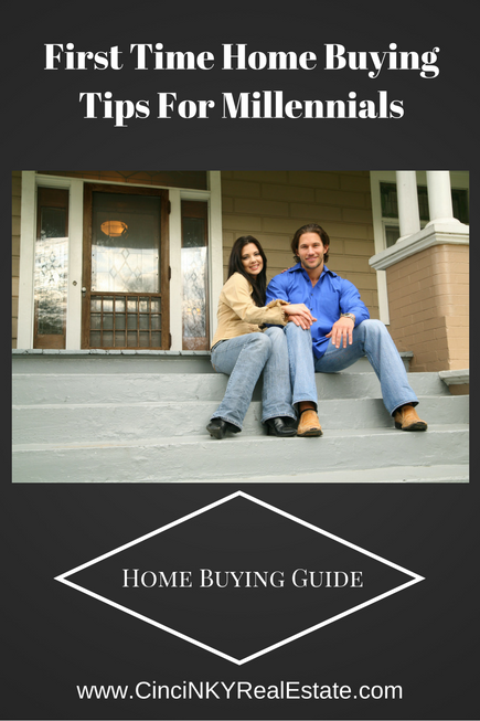 first time home buying tips for millennials picture young couple