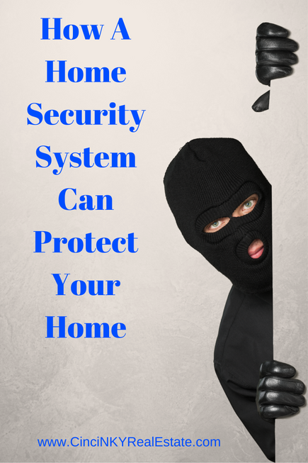 how a home security system can protect your home with picture of a burglar