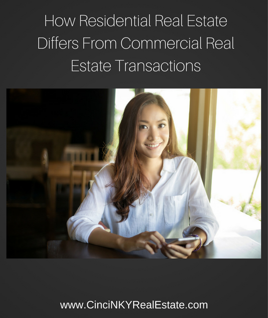 How Residential Real Estate Differs From Commercial Real Estate Transactions