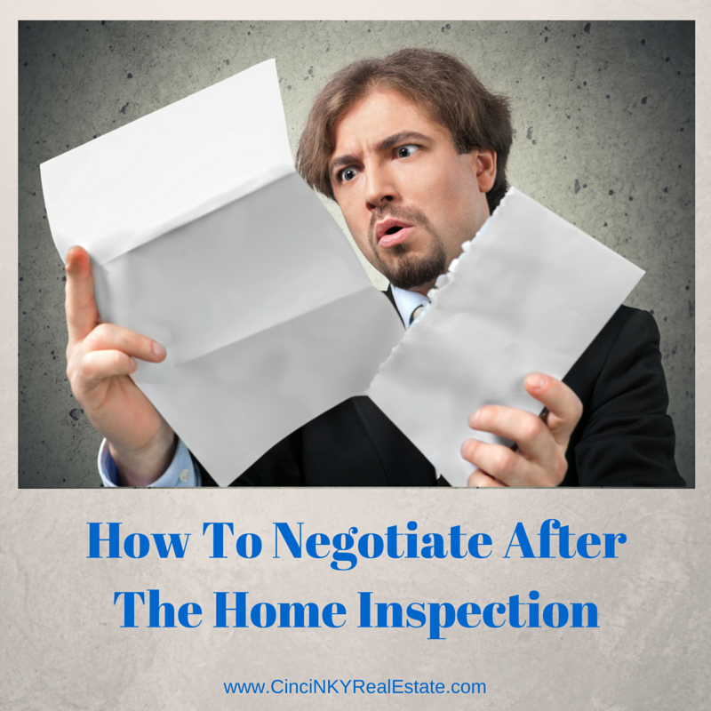 how to negotiate after the home inspection picture of a man reading a letter
