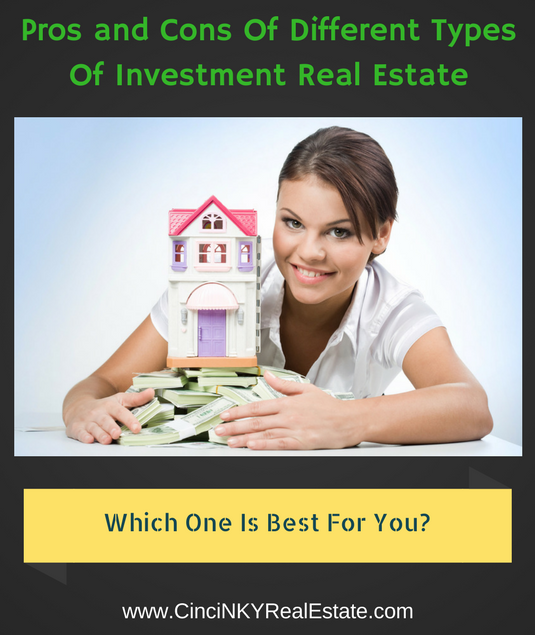 pros and cons of different types of investment real estate