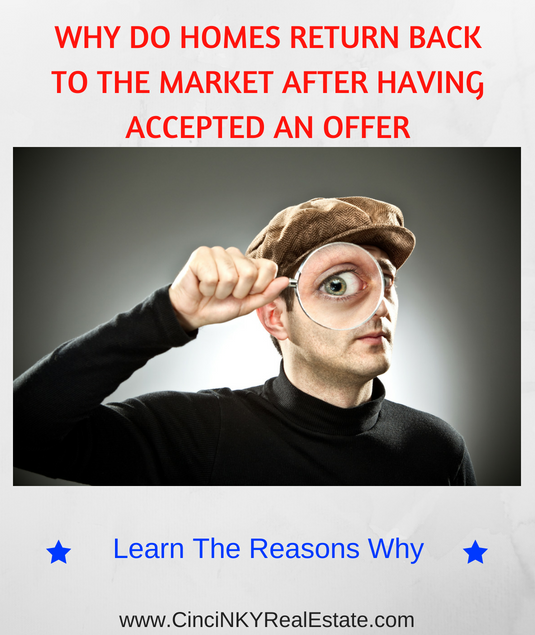why do homes return to the market after getting an offer