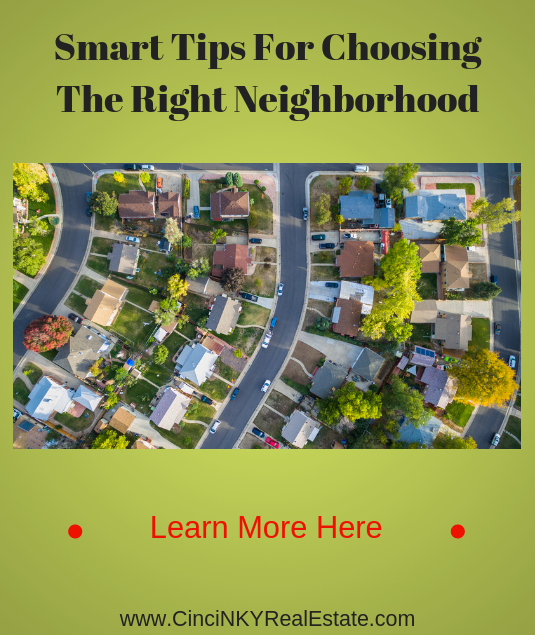 tips for picking the right neighborhood