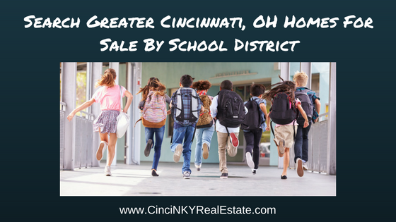 search greater cincinnati, ohio homes for sale by school district