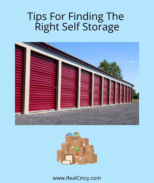 tips for finding self storage near you