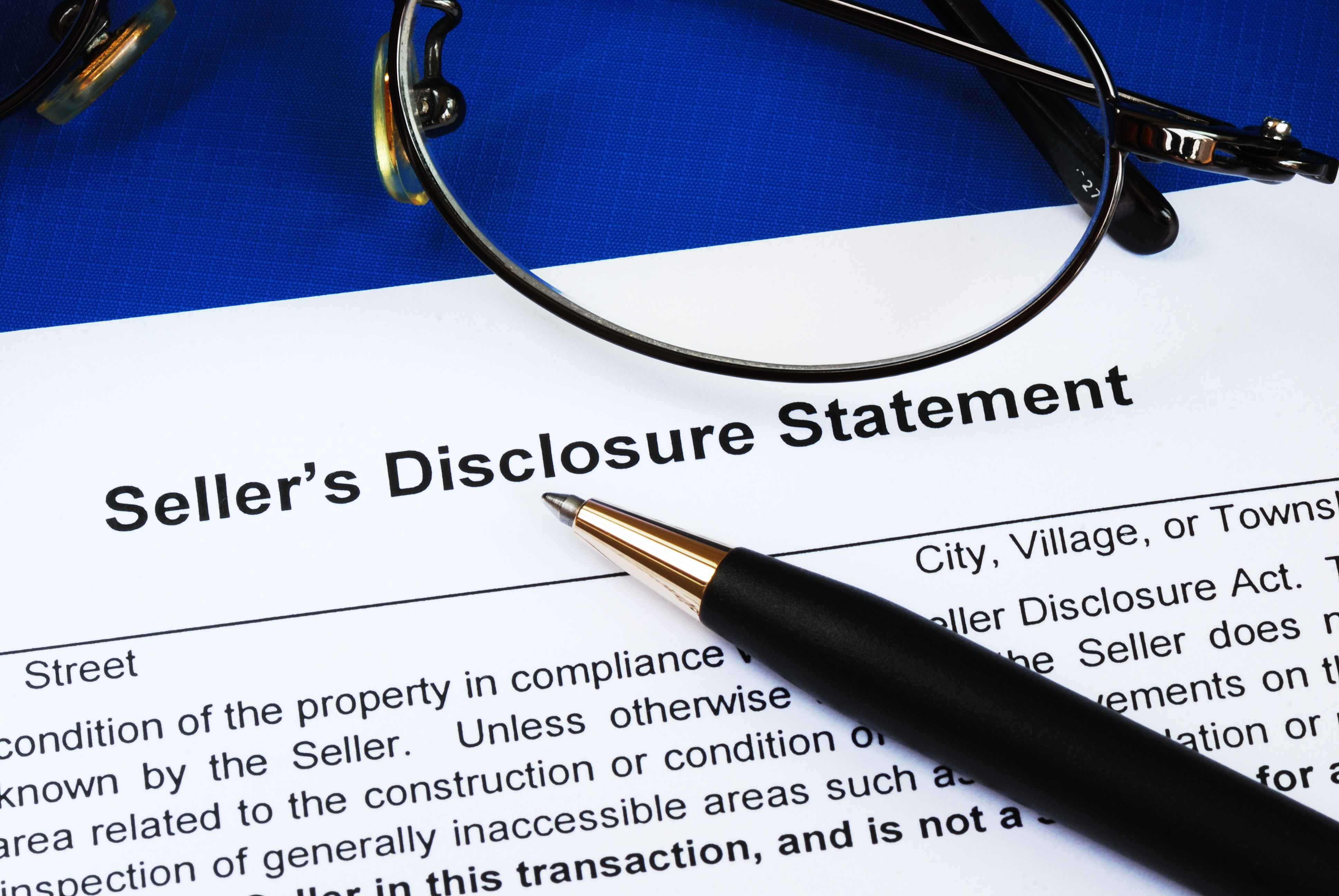 picture of residential property disclosure form