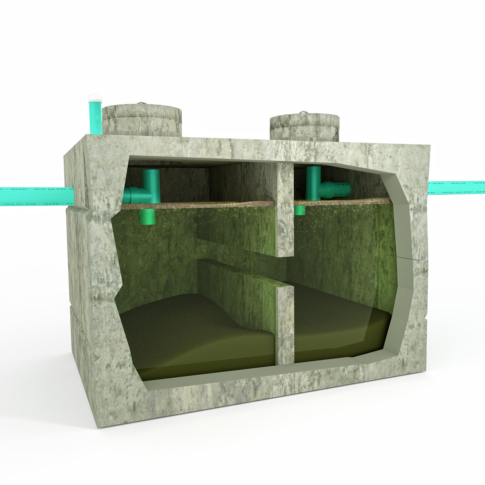 septic system cutaway
