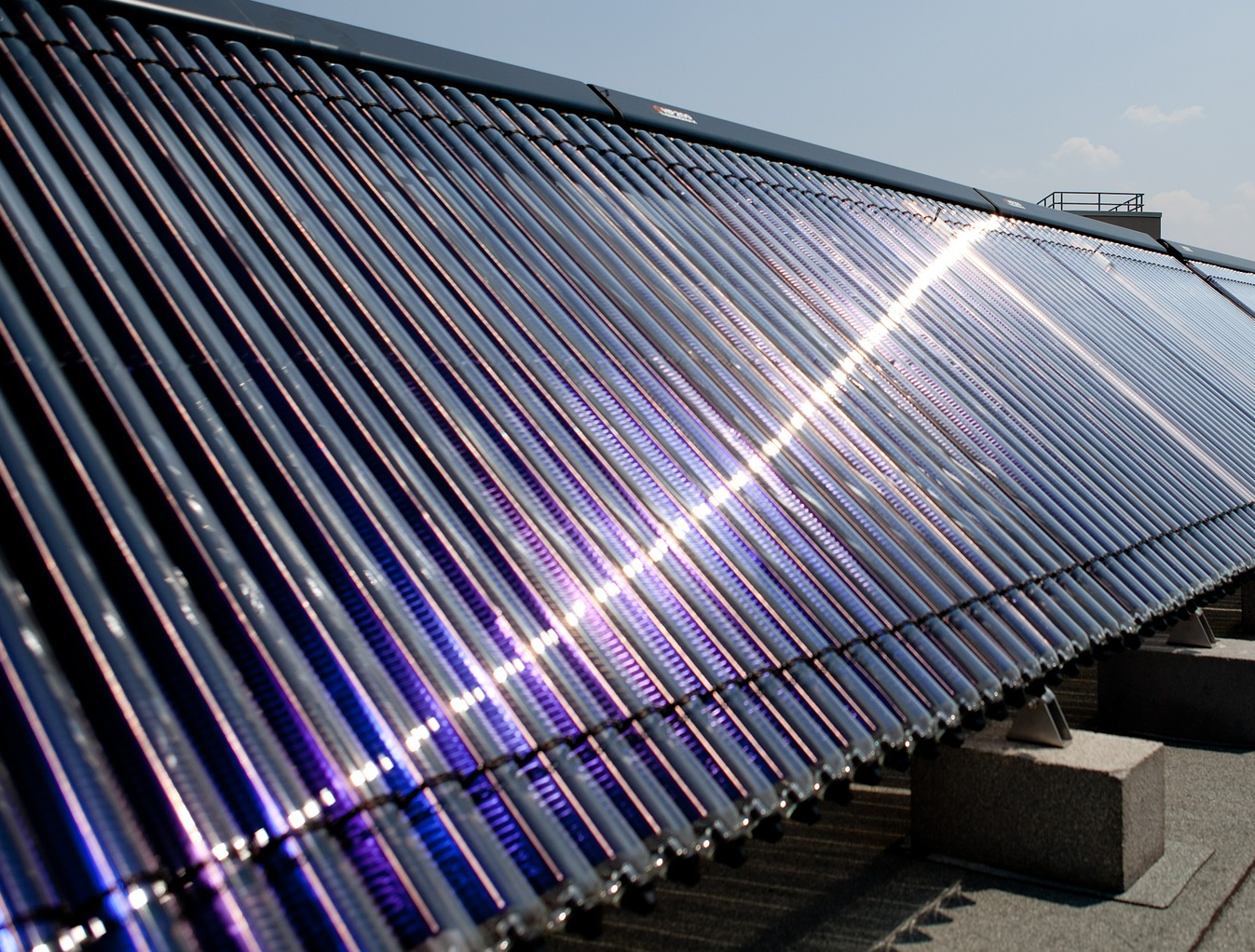 solar water heating array