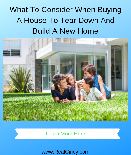 What To Consider When Buying A House To Tear Down And Build A New Home