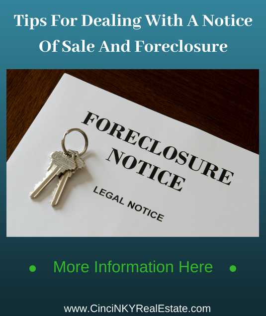 tips for dealing with a not of sale and foreclosure