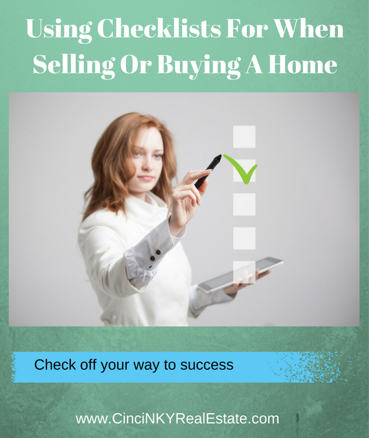 using checklists for buying or selling a home