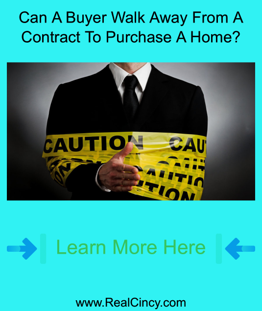 can a buyer walk away from a contract to purchase a home
