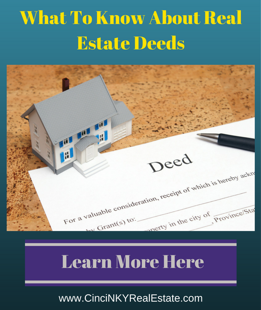 what to know about real estate deed