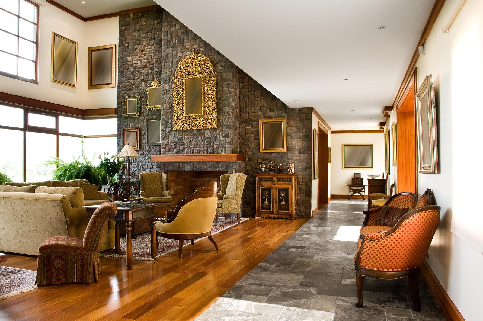 luxury staged living room