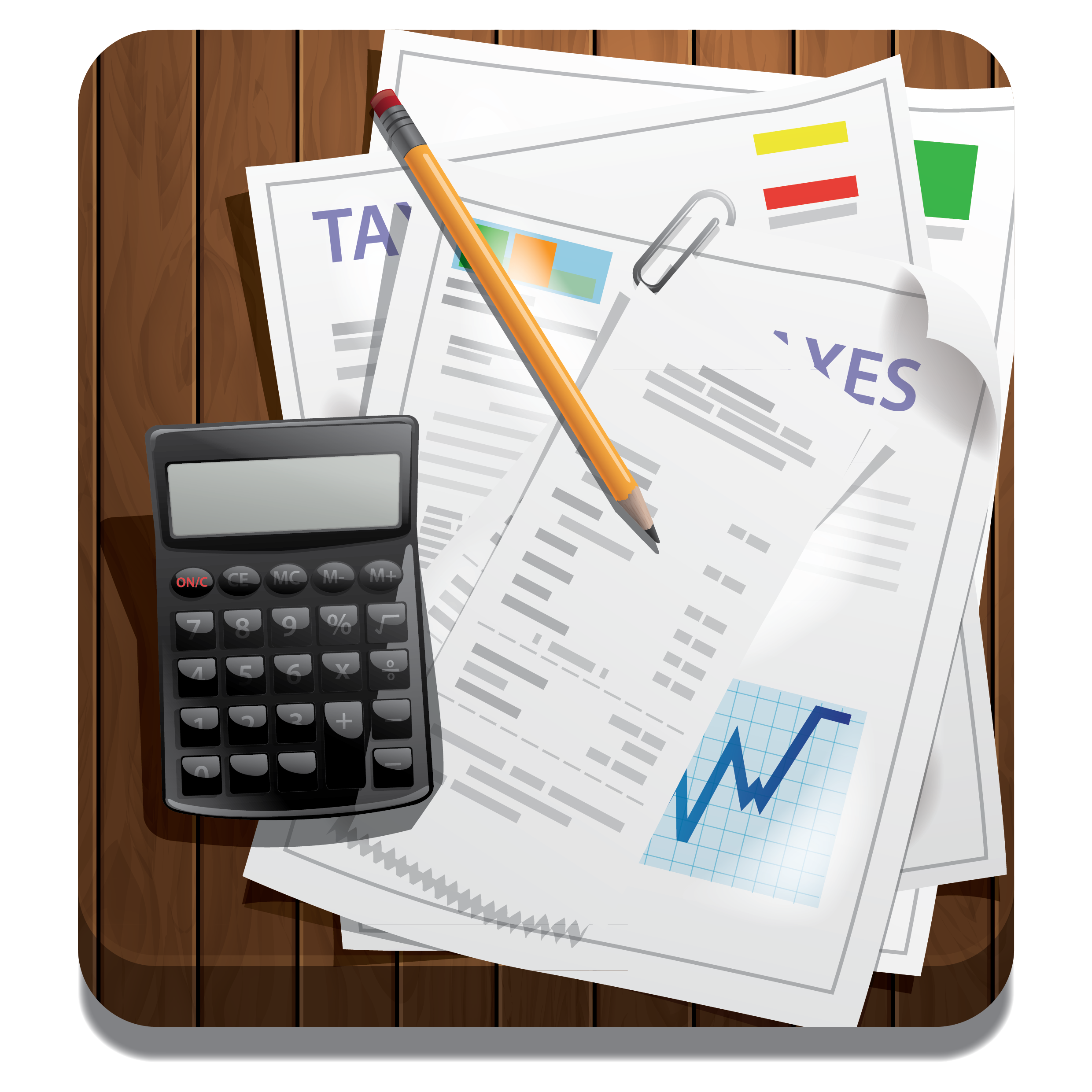 picture of calculator and tax forms as part of conversation about mortgage pre-approval
