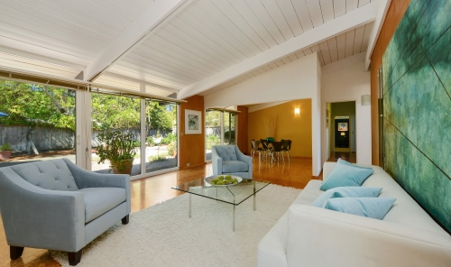 Mid-centurn modern Alliance home in San Rafael.  listed for sale by Marin Modern Real Estate.