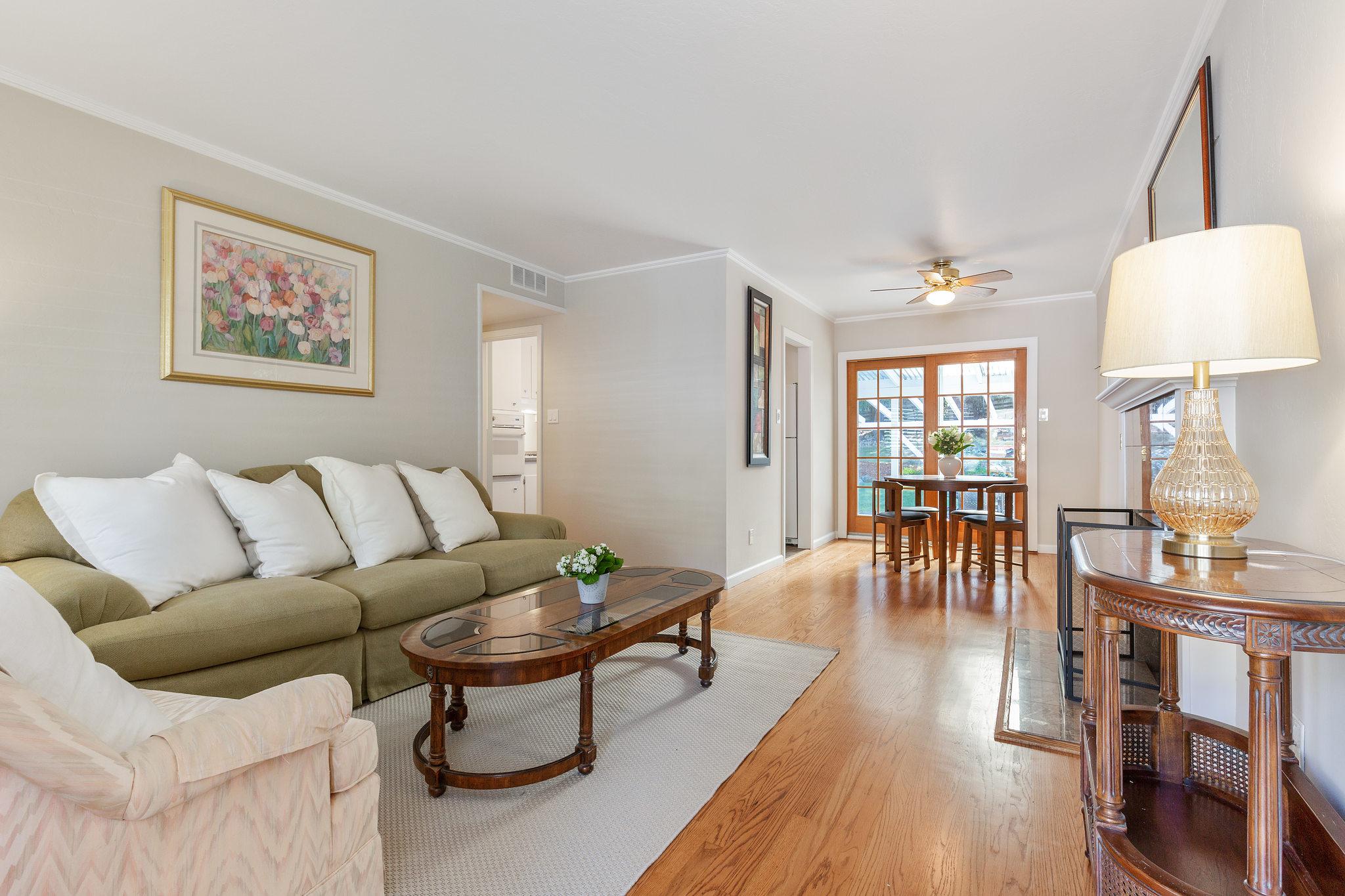 707 Cherry Living Room and hardwood floors
