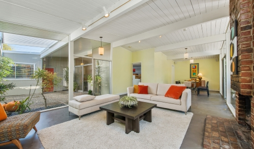 Eichler listing for sale.  8 Cabrillo Ct is listed by Renee Adelmann of Marin Modern.