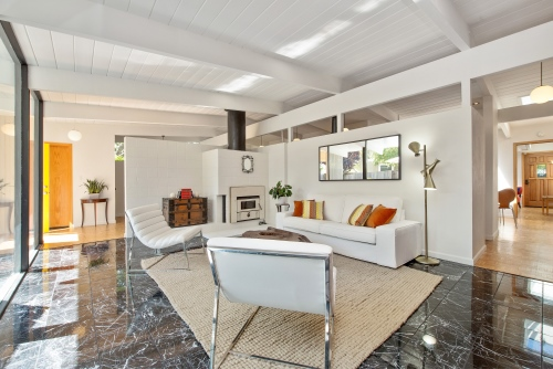 Eichler listed for sale by Marin Modern Real Estate.
