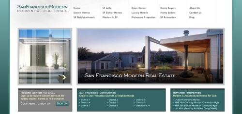website for san francisco modern real estate listings.