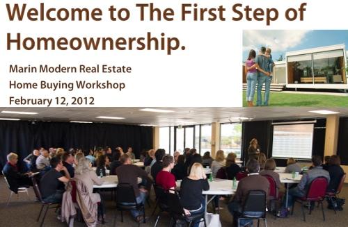 New home buyer seminar in Marin County, California.